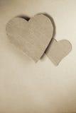 Cardboard hearts Stock Image