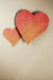 Cardboard hearts Stock Photography