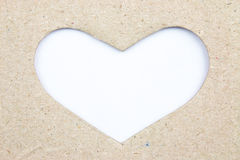 Cardboard hearts do Stock Images