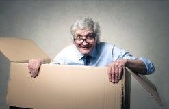 Cardboard hideout Stock Photo