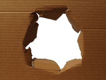 Cardboard with hole Royalty Free Stock Photos