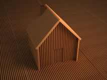 Cardboard house. An image of a house made of cardboard Stock Photography