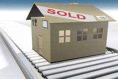 Cardboard house Stock Photography