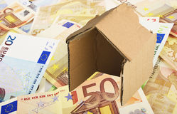 Cardboard house Stock Photo