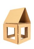 Cardboard house Stock Photo