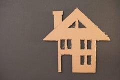 Cardboard house Royalty Free Stock Image