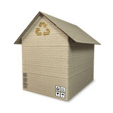 Cardboard house Royalty Free Stock Images