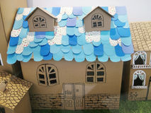 Cardboard house Royalty Free Stock Photo
