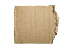 Cardboard isolated. Stock Image