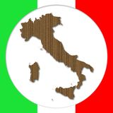 Cardboard Italy Silhouette Stock Image