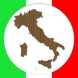 Cardboard Italy Silhouette Stock Image