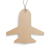 Cardboard Jet Price Sticker Royalty Free Stock Images