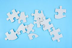 Cardboard Jigsaw Pieces Stock Photos