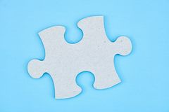 Cardboard Jigsaw Pieces Royalty Free Stock Images