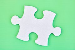 Cardboard Jigsaw Pieces Stock Photography