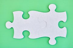 Cardboard Jigsaw Pieces Royalty Free Stock Image