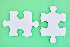 Cardboard Jigsaw Pieces Royalty Free Stock Photography
