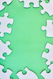 Cardboard Jigsaw Pieces Stock Image