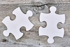 Cardboard Jigsaw Pieces Stock Images