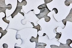Cardboard Jigsaw Pieces Stock Photo
