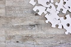 Cardboard Jigsaw Pieces Royalty Free Stock Photo