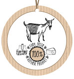 Cardboard label Goat Farm Fresh Natural product Royalty Free Stock Photos