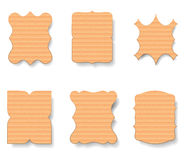 Cardboard Labels Set, Vector Illustration Stock Photos