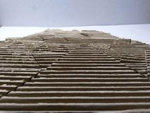 Cardboard landscape model stock image