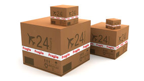 Cardboard logistic Royalty Free Stock Image