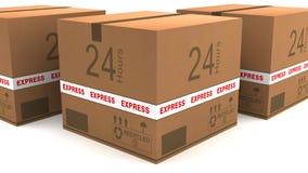 Cardboard logistic Stock Image