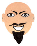 Cardboard mask Stock Image