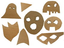 Cardboard mask isolated Royalty Free Stock Image