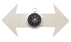 Cardboard navigation arrows Royalty Free Stock Photo