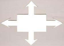 Cardboard navigation arrows Royalty Free Stock Photography