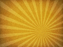 Cardboard Old Paper Texture Sun Ray Background. A texture image of old fiber paper cardboard with like sun rays stock images