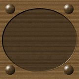 Cardboard Oval Frame Royalty Free Stock Image