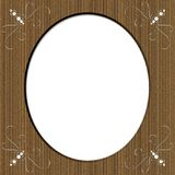 Cardboard Oval Frame With Swirls Stock Photography