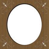 Cardboard Oval Frame With Swirls Stock Photography