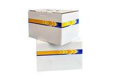 Cardboard pack Stock Photo