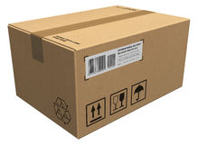 Cardboard package Stock Images