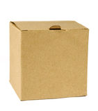 Cardboard package. Closed cardboard package on white background Royalty Free Stock Photography