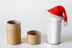 Cardboard packages in Christmas spirit Royalty Free Stock Photography