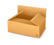 Cardboard packaging box opening Royalty Free Stock Photography