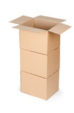 Cardboard packaging boxes Stock Images