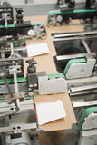 Cardboard packaging production stock image