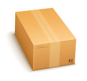 Cardboard packing box closed Stock Images