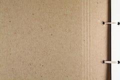 Cardboard page album. Royalty Free Stock Photos