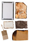 Cardboard And Paper Items Royalty Free Stock Photo