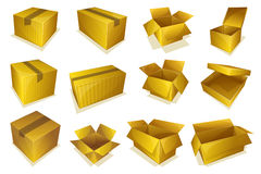 Cardboard parcel icon Royalty Free Stock Images