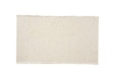 Cardboard Piece. Piece of cardboard isolated on white background with clipping path royalty free stock images